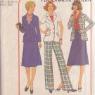 SIMPLICITY PATTERN 8035 MISSES' SKIRT, PANTS AND BLAZER SIZES 16 1/2 & 18 1/2