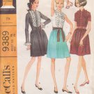 McCALL'S PATTERN 9389 MISSES' DRESS IN 3 VARIATIONS SIZE 16