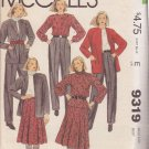 McCALL'S PATTERN 9319 JONES NEW YORK, MISSES' JACKET, SKIRT, BLOUSE, PANTS SIZE 8
