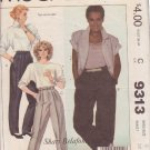 McCALL'S PATTERN 9313 SHARI BELAFONTE-HARPER DESIGN FOR MISSES' PANTS SIZE 8