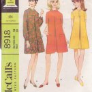 McCALL'S VINTAGE PATTERN 8918 MISSES' DRESS IN 3 VARIATIONS SIZE 14