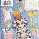 BUTTERICK PTTRN 5220 INFANTS' BUNTING,JUMPSUIT,SHIRT,DIAPER COVER,HAT,BIB,MITTENS,BOOTIES,BLANKET