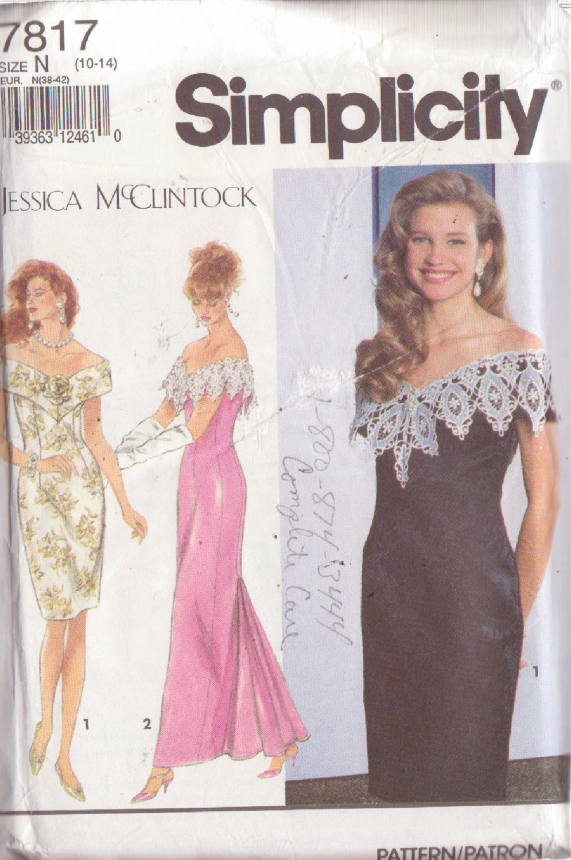 SIMPLICITY PATTERN 7817 JESSIC McCLINTOCK MISSES' DRESS 2 VARIATIONS SIZES 10-12