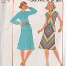 SIMPLICITY PATTERN 7966 MISSES' BIAS 2 PIECE DRESS SIZE 12 & 14