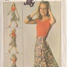 SIMPLICITY PATTERN 7876 MISSES' FRONT WRAP SKIRT SIZE SMALL 10/12