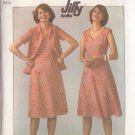 SIMPLICITY PATTERN 7965 MISSES' KNIT PULLOVER DRESS AND JACKET SIZE 14