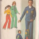 SIMPLICITY PATTERN 7812 CHILD'S SHIRT, TOP AND PANTS SIZE 10