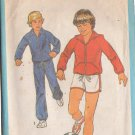 SIMPLICITY PATTERN 8449 BOYS' UNLINED JACKET, HOOD, PANTS, SHORTS SIZE 12