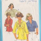 SIMPLICITY PATTERN 8209 MISSES' BLOUSES, PULLOVER TOP 4 VARIATIONS SIZE 16
