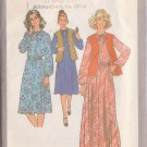 SIMPLICITY PATTERN 8418 MISSES' PULLOVER DRESS 2 LENGTHS AND VEST SIZE 10