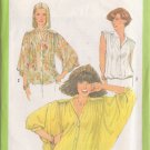 SIMPLICITY PATTERN 8348 MISSES' BLOUSE IN 3 VARIATIONS SIZE 10