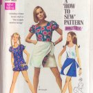 SIMPLICITY PATTERN 8063 MISSES' BLOOMER PLAYSUIT, REVERSIBLE MINI WRAP SKIRT SIZE 10