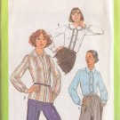 SIMPLICITY PATTERN 8251 MISSES BLOUSE IN 3 VARIATIONS SIZE 12 UNCUT