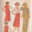 SIMPLICITY PATTERN 8154 MISSES BLOUSE,TABARD, PANTS, BACK WRAP SKIRT SIZE 12