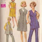 SIMPLICITY VINTAGE PATTERN 8359 MISSES' DRESS, JUMPER, TUNIC, PANTS SIZE 18 1/2
