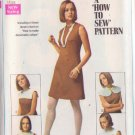 SIMPLICITY VINTAGE PATTERN 8060 MISSES' DRESS WITH DETACHABLE COLLARS SZ 14