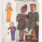SIMPLICITY VINTAGE PATTERN 8254 CHILD'S TOP, PANTS, SKIRT IN 3 VARIATIONS SIZE 2