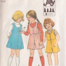 SIMPLICITY VINTAGE PATTERN 8130 CHILD'S JUMPER, CULOTTE JUMPER SIZE 3