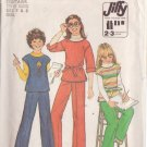 SIMPLICITY VINTAGE PATTERN 8122 SIZES SMALL 7 & 8 CHILD'S PULLOVER TOP AND PANTS