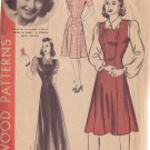 HOLLYWOOD PATTERN 551 MISSES' 1940'S PINAFORE JUMPER, BLOUSE SIZE 18