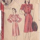 HOLLYWOOD PATTERN 578 MISSES' 1940'S DRESS 2 VARIATIONS SZ 14 BRENDA MARSHALL