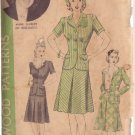 HOLLYWOOD VINTAGE PATTERN 682 MISSES' 2 PIECE SUIT 2 VERSIONS SZ 18 ANNE SHIRLEY