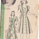 HOLLYWOOD PATTERN 653 MISSES' COAT-DRESS OR HOUSECOAT SZ 18 ANNE SHIRLEY