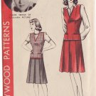 HOLLYWOOD PATTERN 956 MISSES' 1940'S JERKIN AND SKIRT SIZE 16 CLAIRE TREVOR