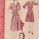 HOLLYWOOD VINTAGE PATTERN 865 MISSES' 1 PIECE SHIRTWAIST DRESS 2 STYLES SIZE 14