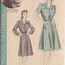 HOLLYWOOD PATTERN 890 1 PC 1940'S DRESS 2 VERSIONS SIZE 12 RUTH WARRICK