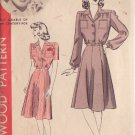 HOLLYWOOD PATTERN 870 MISSES' SHIRT WAIST DRESS 2 VERSIONS SIZE 12 BETTY GRABLE