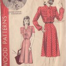 HOLLYWOOD PATTERN 593 MISSES' 1940'S DRESS 2 VARIATIONS SZ 16 ELEANORE WHITNEY