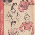 HOLLYWOOD VINTAGE PATTERN 1165, 1940'S BLOUSE 4 STYLES SIZE 14 RUTH WARRICK