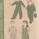 HOLLYWOOD VINTAGE PATTERN 1238 FOR CHILD'S OVERALLS, JACKET SIZE 3 YEARS