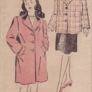 NEW YORK UNPRINTED VINTAGE PATTERN 717 40'S GIRL'S COAT 2 LENGTHS SIZE 10