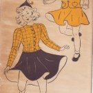 NEW YORK UNPRINTED VINTAGE PATTERN 1204 40'S GIRL'S 2 PC DRESS 2 VERSIONS SZ 14
