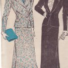 NEW YORK VINTAGE PATTERN 756 MISSES' SUIT IN 2 VERSIONS SIZE 18