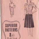 SUPERIOR VINTAGE PATTERN 9736 MISSES' SKIRT, OVER BLOUSE SIZE 14