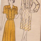 NEW YORK VINTAGE PATTERN 130 MISSES' DRESS, 2 VARIATIONS SIZE 16