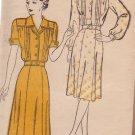 NEW YORK VINTAGE PATTERN 130 MISSES' DRESS, 2 VARIATIONS SIZE 16