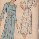 NEW YORK VINTAGE UNPRINTED PATTERN 373 MISSES' DRESS, 2 SKIRTS, 2 VARIATIONS SIZE 44