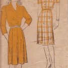 NEW YORK VINTAGE UNPRINTED PATTERN 679 MISSES' DRESS 2 VARIATIONS SIZE 44