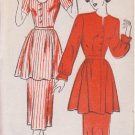 NEW YORK VINTAGE UNPRINTED PATTERN 302 MISSES' DRESS 2 VARIATIONS SIZE 20