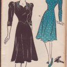 NEW YORK VINTAGE UNPRINTED PATTERN 1478 MISSES' DRESS 2 VARIATIONS SIZE 42
