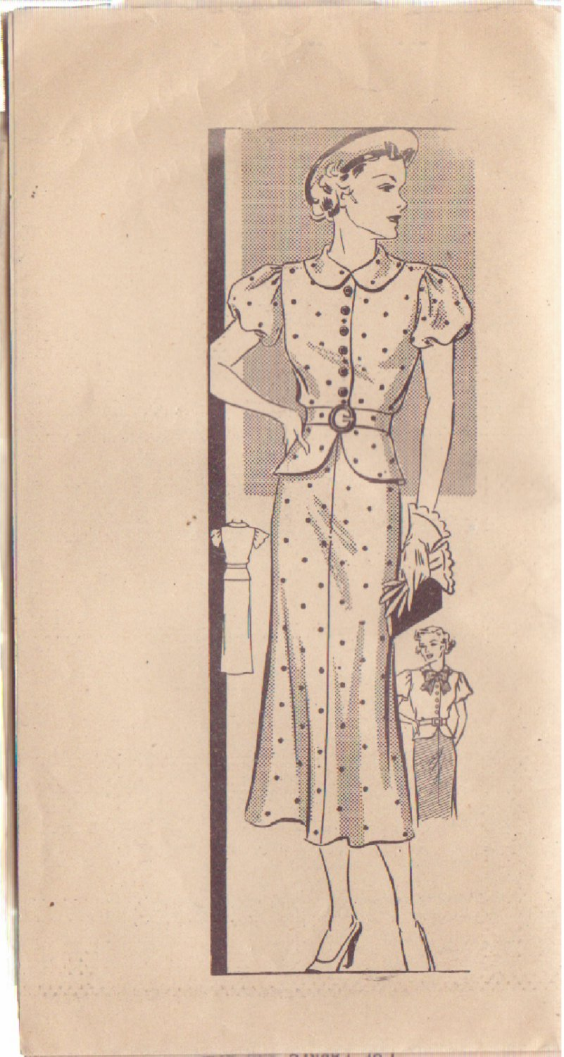 STEP BY STEP UNPRINTED PATTERN 353 MISSES' 2 PC DRESS 2 VARIATIONS SIZE 12