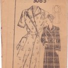 FASHION BUREAU UNPRINTED PATTERN 3065 MISSES' HOUSECOAT 2 VARIATIONS SIZE 14