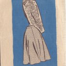 VINTAGE PRINTED PATTERN 4845 MISSES' SKIRT IN 2 VARIATIONS SIZE 30
