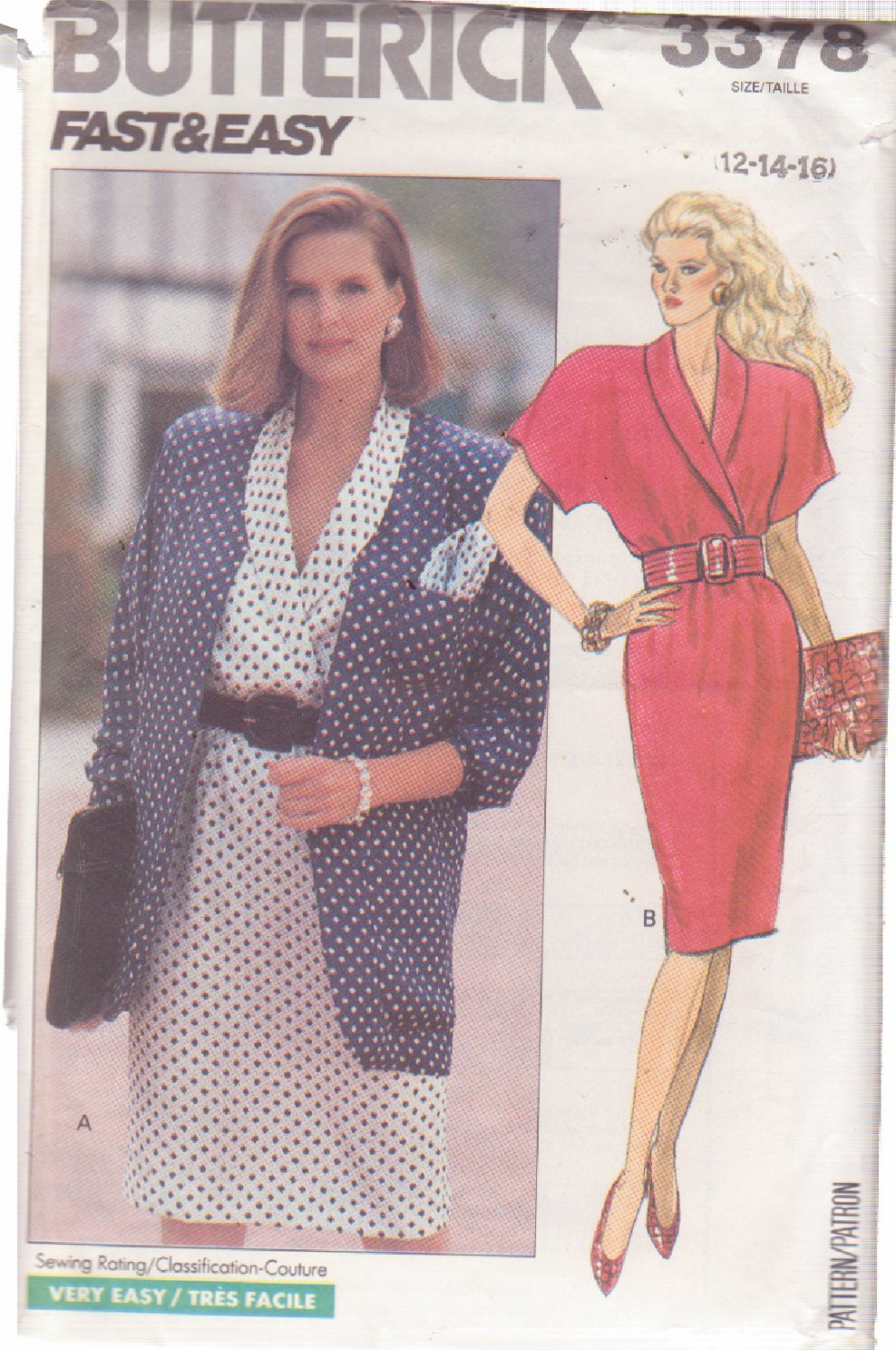 Butterick pattern 3378 Misses� jacket and dress sizes 12/14