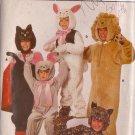 Butterick pattern 6815 Child's Cat, Leopard, Lion, bunny, mouse costumes 2/3/4