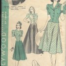 HOLLYWOOD PATTERN 1973, 1940'S JACKET-BLOUSE, SKIRT IN 2 LENGTHS SIZE 16 GERALDINE FITZGERALD